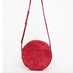 Baggu - Red Suede Circle Crossbody ❤️🖤